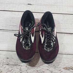 Brooks womens pink white black sneakers running